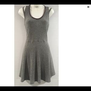 Candies Ribbed Gray Fun Flirty Dress Large